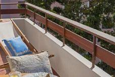 Balcon avec vue mer à Funchal